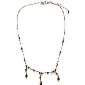 Gunmetal Black necklace vintage